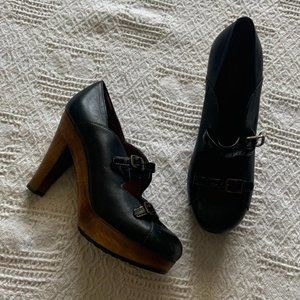 See By Chloe black double strap mary janes sz 39.5